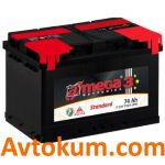 Аккумулятор A-mega Standart 6СТ-74-А3E R+