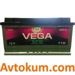 Аккумулятор Vega EFB 6CT-110 R+Westa
